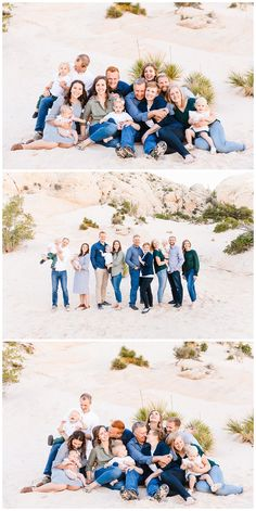 The Petersons Extended Family Session in Snow Canyon Utah Large Family Portraits, Extended Family Photography, Family Portrait Poses, Family Picture Poses, Family Picture Outfits, Family Photo Sessions, Family Posing, Beach Portraits, Mini Sessions