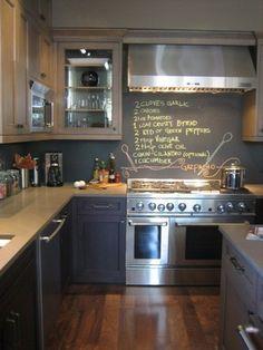 kitchen, chalkboard paint
