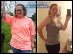 "This is Shelly ""My biggest accomplishment ever! 48.5 pounds DOWN! No turning back now!! Still got a little more weight to lose until I'm satisfied but I've never been so proud. I already have more self esteem.                 ೋღ ღೋ  Start Your 90-Day Challenge Here: www.GetSkinnyin90.com Try our all natural weight loss products: You can Mix and Match HiBurn8, Skinny Body MAX, or Skinny Fiber at www.bcoopersbc.com  Buy any 2 get a 3rd for free, buy any 3 get 3 more for free! Money back…"