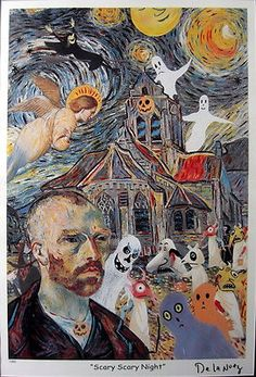 Nelson De La Nuez - Scary Scary Night - Lithograph - Limited Edition - 7/850