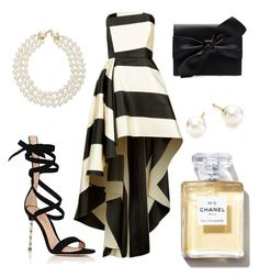 """""""Untitled #14"""" by jasminsangalyan on Polyvore featuring La Mania, Gianvito Rossi, Witchery, Chanel and Majorica"""