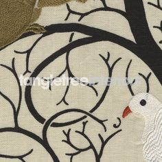 Squirrel and Dove fabric from Sanderson - Linen Ivory DVIPSQ301