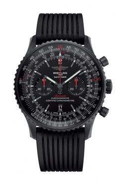 Night Flyer: The New Breitling Navitimer 46 Blacksteel Watch All Black Watches, Dream Watches, Vintage Watches For Men, Best Watches For Men, Luxury Watches For Men, Cool Watches, Men's Watches, Wrist Watches, Sport Watches