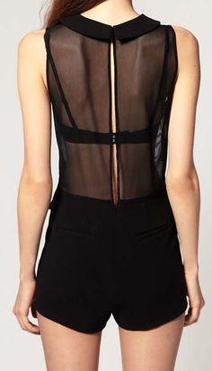 See-through & Voile Splicing Jumpsuits   dresslily.com