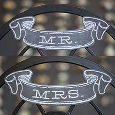 Free Printable Mr & Mrs Wedding Banner in Chalkboard Style