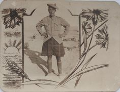 A photo postcard of a Seaforth Highlander, Looking at his uniform and the background of the postcard he could be 1st Battalion, the photo could have been taken in 1914 India or 1915 Mesopotamia.