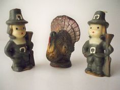 1950s Thanksgiving Figurine Candles made by by VintageFindsbySuzi, $7.00