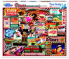 Diners!   NEW 1000 Piece puzzle from White Mountain Puzzles.  www.whitemountainpuzzles.com.