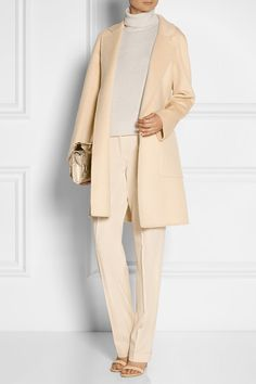 Peach stretch-wool twill Button and concealed zip fastening at front 98% wool, 2% elastane Dry clean Designer color: Nude