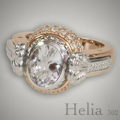 This Oval Ring is in the Helia family and is interchangeable with Diamonds. #CaerleonJewelry