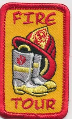 Girl Boy Cub Fire Department Tour Boot Patches Crests Badges Scouts Guide | eBay