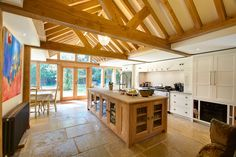 Beautiful interior and exterior images of oak framed garden rooms