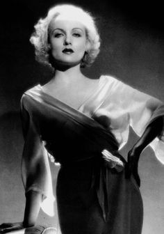 Carole Lombard  1908 – 1942) American actress.  This blonde bombshell is particularly noted for her roles in the screwball comedies of the 1930s. She is listed as one of the American Film Institute's greatest stars of all time.  Married to Clark Gable, she died in an airplane crash at age 33, while on a publicity tour ~ stumping for war bonds.