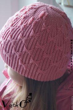 Knitting Baby Girl, Knitted Hats, Crochet Hats, Loom Knitting Patterns, Kids Hats, Headbands, Winter Hats, Weaving, Beanie