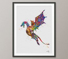Toothless Fury 3 How to train your DRAGON Watercolor  Art Print Wall Art Poster Wall Decor Art Home Decor Wall Hanging [NO 486]