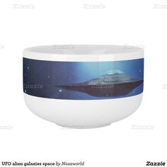 UFO alien galaxies space Soup Bowl With Handle from Zazzle