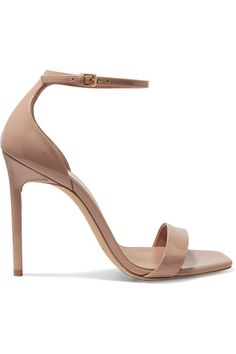 e2a1c46a3bfd Saint Laurent - Amber Patent-leather Sandals - Neutral - IT
