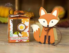 Fox Shaped Card (made with the Silhouette electronic cutting machine) from Corri Garza: Lori Whitlock Creative Team