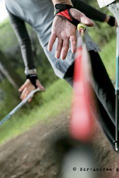 #nordikwalking  Lâcher du bâton, main ouverte à l'arrière...