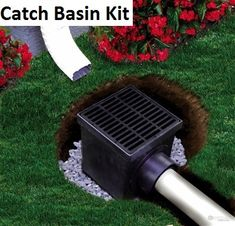 """The Drainage Products Store - NDS 9"""" Catch Basin Kit w/ Black Grate, $42.04 (http://stores.drainageproducts.us/nds-9-catch-basin-kit-w-black-grate/)"""