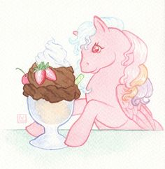 Locket + Sundae by Longhair on DeviantArt My Little Pony Cartoon, History Museum, Magical Girl, Birthday Presents, Retro Vintage, Disney Characters, Fictional Characters, Aurora Sleeping Beauty, Ponies