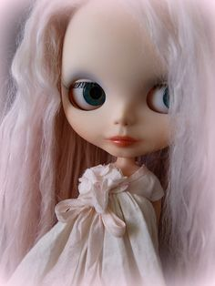My super talented friend Deb at LaDeeDolly.  Her latest custom Blythe