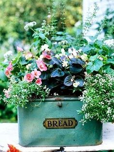 #pottery #planters #pots #containers Vintage Breadbox....