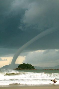 Waterspout. Nature is so amazing. God is the ultimate creator