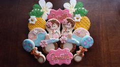 Hawaiian Baby Shower Hawaiian sugar cookies by SweetSetups on Etsy