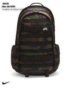 Le sac à dos de skateboard Nike SB RPM est conçu pour vous permettre de tout transporter. Entre son compartiment pour ordinateur portable et ses sangles permettant de transporter un skateboard, ce sac résistant garde vos affaires en lieu sûr. Skate Backpack, Black Backpack, Backpack Bags, Sling Backpack, Nike Sb, Skateboard Accessories, Brave Kids, Pantalon Cargo, Urban Fashion