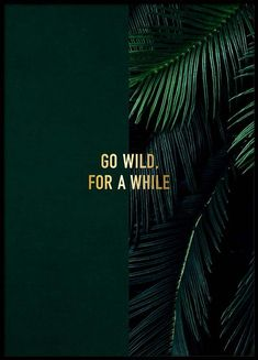 Go wild Poster in de groep Posters / Afmetingen / 50x70cm bij Desenio AB (2848)