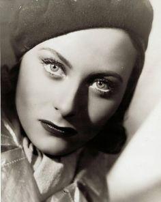 """Michèle Morgan in """"Le quai des brumes"""" a movie by Marcel Carné, 1938."""