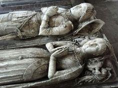 Norbury, Derbyshire. Sir Ralph Fitzherbert (+1483) and wife, alabaster.