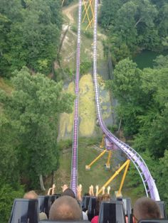 Apollo's Chariot at Busch Garndens of Williamsburg, Virginia; Maximum Height: 170 ft Track Length: 4,882 ft Max Speed: 73 mph