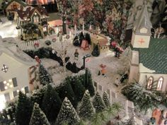 Christmas Village Ideas | My Christmas Village, This is my Christmas village that I have ...