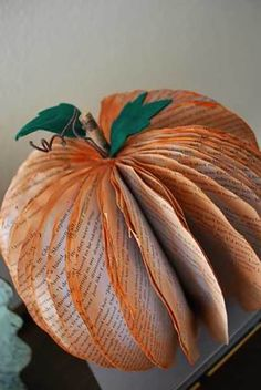 Paper Pumpkin Centerpiece | 17 DIY Thanksgiving Crafts for Adults, see more at http://diyready.com/amazingly-falltastic-thanksgiving-crafts-for-adults