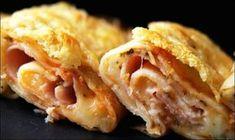 Crepes gratinados de mozzarella y jamón | Cocinar en casa es facilisimo.com