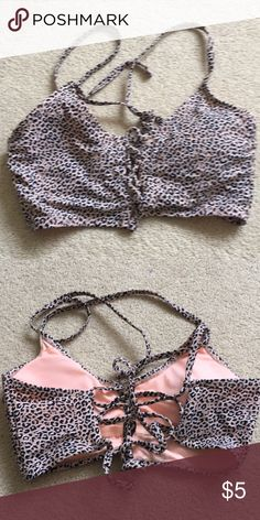 bdd0b0bc Nwot wetseal women's cheetah print bralette medium in 2018 | My Posh ...