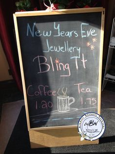 bling it Chalkboard Signs, New Years Eve, Art Quotes, Bling, Creative, Jewel