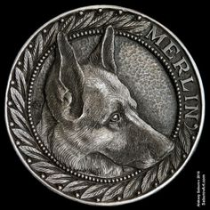 """Hobo Nickel """"Merlin"""" hand-engraved by Aleksey Saburov."""