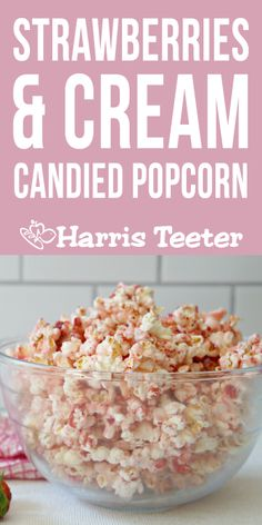 Sweet Popcorn, Candy Popcorn, Popcorn Balls, Easy Snacks, Yummy Snacks, Delicious Desserts, Yummy Food, Easy Candied Popcorn Recipe, Popcorn Recipes