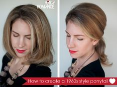 1960s hairstyles are a huge trend. From loose Bardot bouffants, to the perfectly crafted Mad Men hairstyles, take a look back at the 1960s fashions for your next hairstyle. This easy ponytail hairstyle is influenced by the loose hairstyles Brigitte Bardot wore. The 1960s shape is created by teasing at the crown and keeping the...Read More »