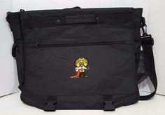 Laptop Book Bag Shoulder Strap 4imprint Embroidered Super Tacos Man Short Handle #4imprint