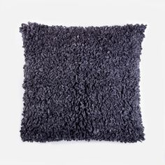 Curly Oversized Pillow - Charcoal Grey