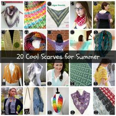20 Cool Crochet Scarves for summer by thecrochetcafe.com