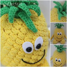 Anna Ananas - Vitamini - Fruit - Haken - haakpatroon - Zomer - Gehaakte vitaminis