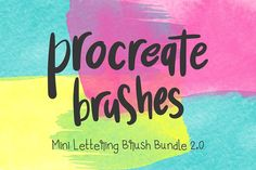 Procreate Lettering 4-Brush Bundle 2 by Mikko Sumulong on @creativemarket