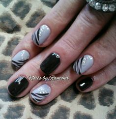 Gel Nail Polish with Nail Art