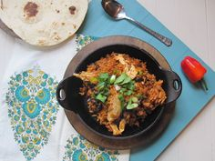 This is by no means a traditional Arroz con Pollo, but it's definitely a quick and easy version that has all the familiar flavors and i. Real Mexican Food, Mexican Food Recipes, Healthy Recipes, Mexican Dinners, Fall Recipes, Dinner Recipes, Rick Bayless, Dinner Is Served, Cooking Light