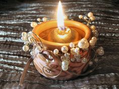 Spiral votive tutorial in French by Christalline.  Photos make it easy to follow